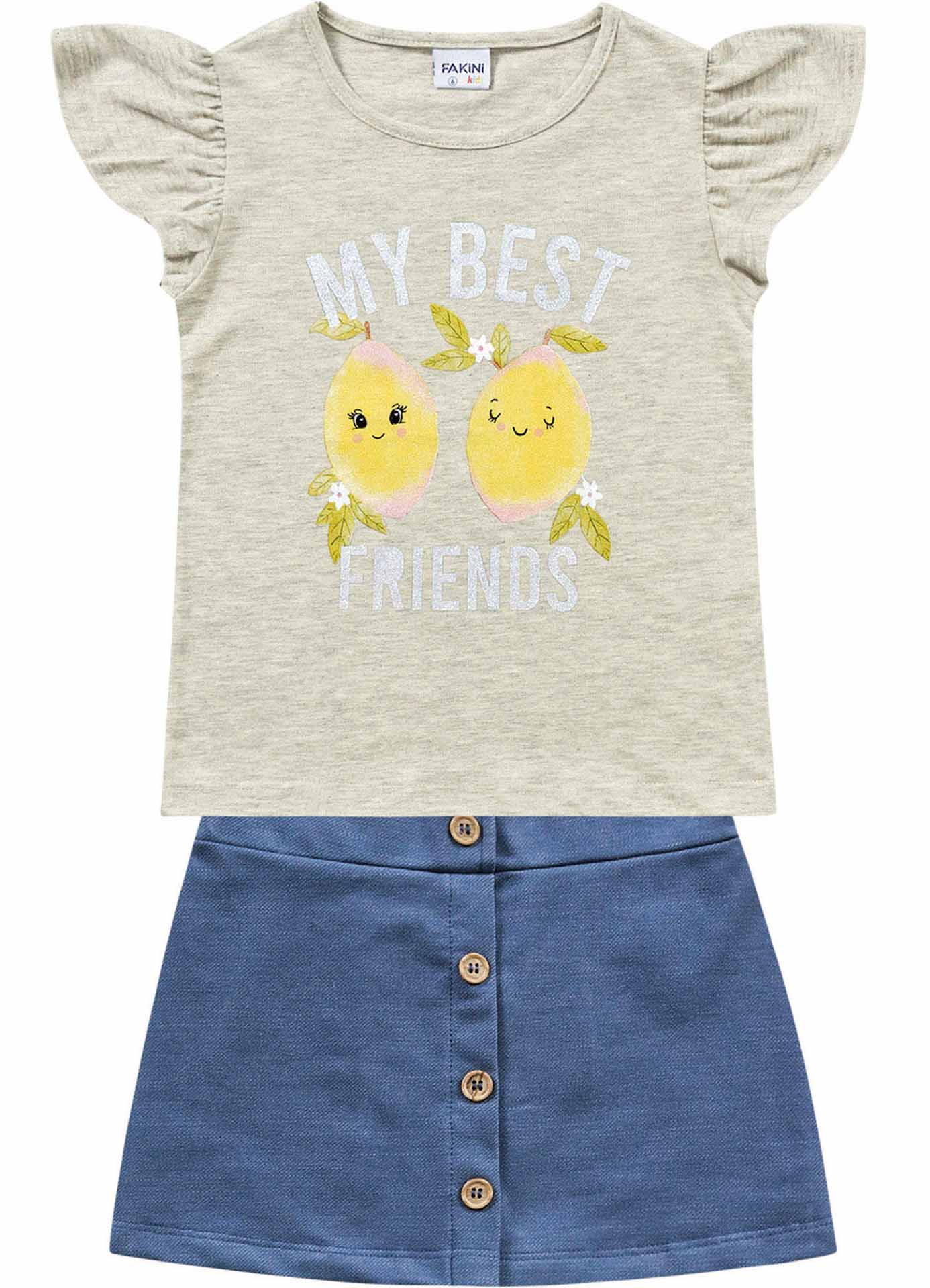 CONJUNTO BLUSA/SHORT-SAIA MY BEST FRIENDS