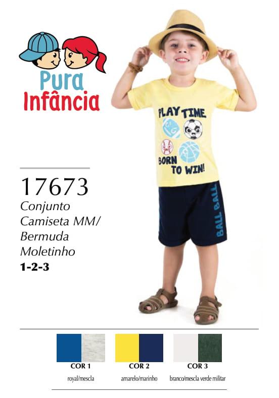 CONJUNTO BOLAS CAMISETA  BERMUDA MOLETINHO
