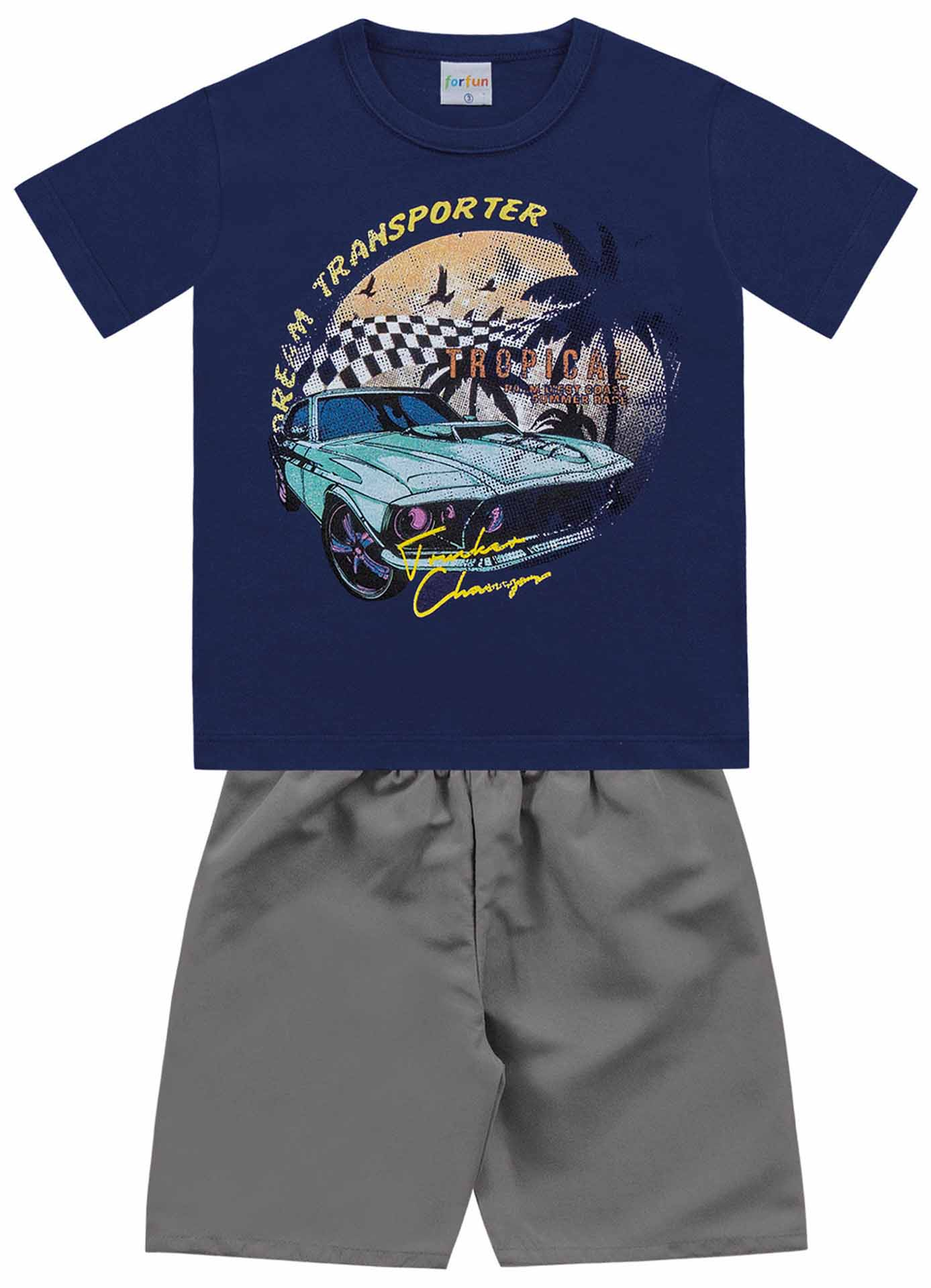 CONJUNTO CAMISETA/BERMUDA DREAM TRANSPORTER