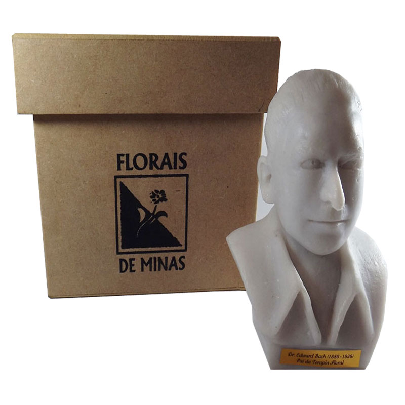 Busto Dr. Edward Bach - Mármore Branco