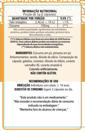 Cúrcuma com Pimenta - 60 Cápsulas - 500mg
