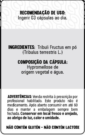 Tribulus Terrestris - 60 Cápsulas - 500mg