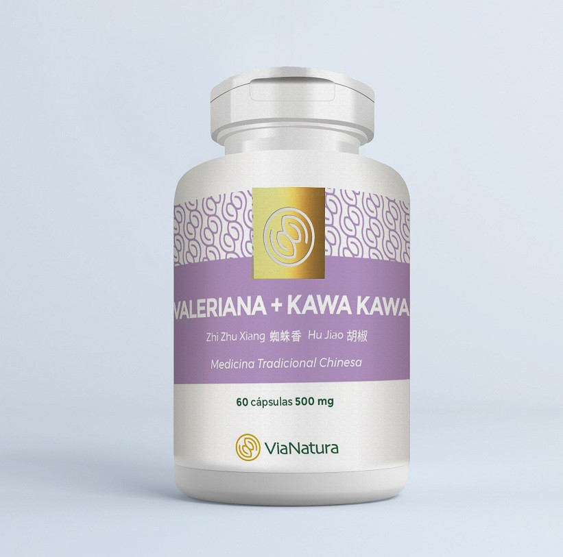 Kawa Kawa com Valeriana  - 60 Cápsulas - 500mg