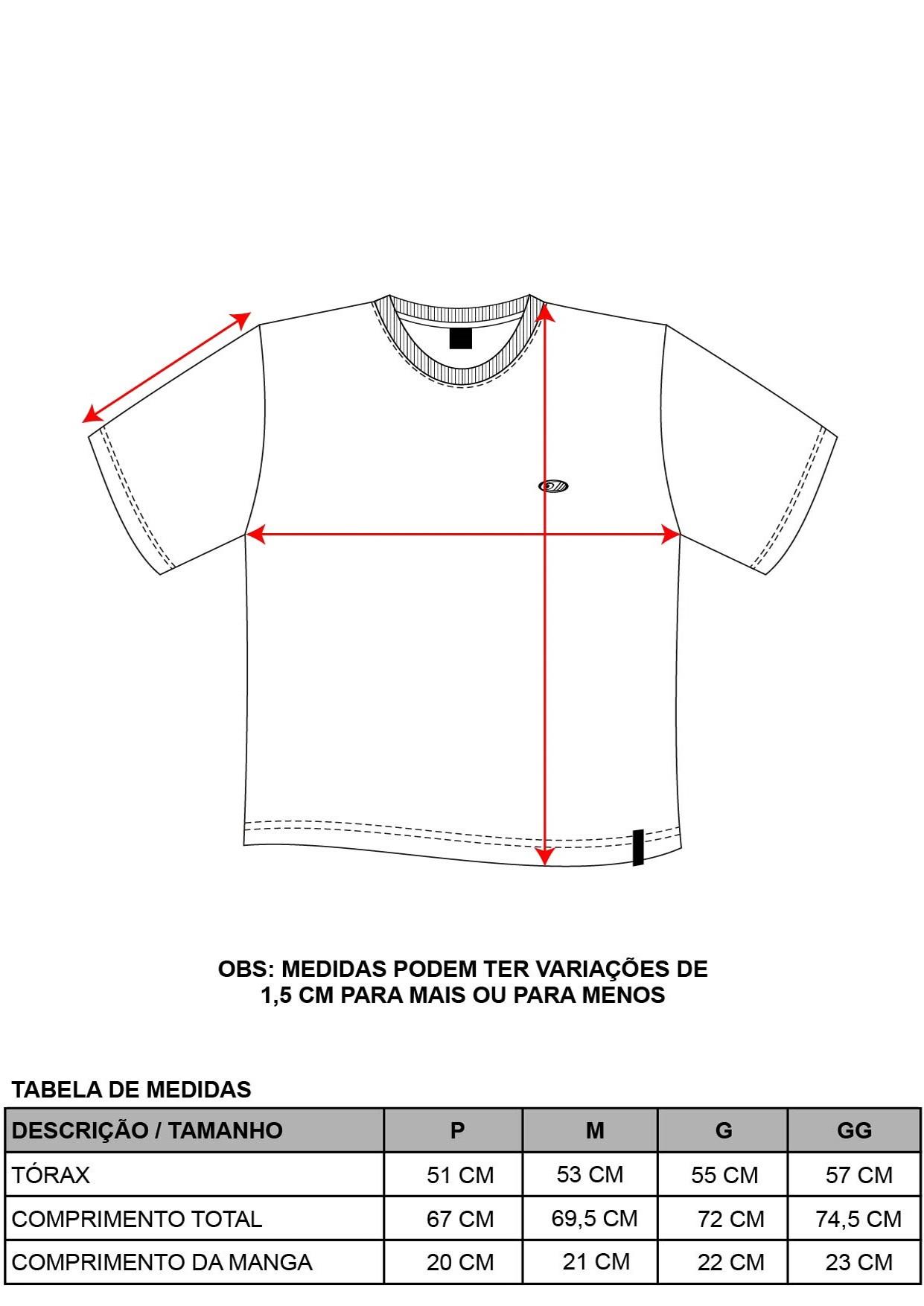 Camiseta Decote Redondo Confort