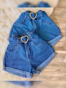Saia Jeans Maluky Cinto Coração UM442069