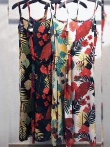 Vestido Longo Floral Viscose UM492069