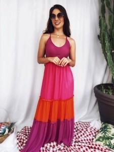 Vestido Longo Tricolor UM592079