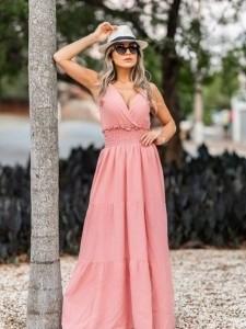 Vestido Transpassado Viscose UM8420119