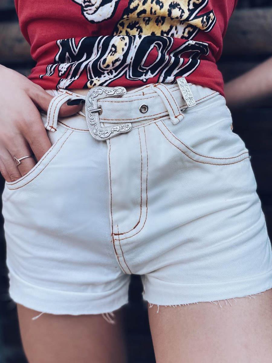 Short Jeans OFF Maluky Fivela Metal UM442069