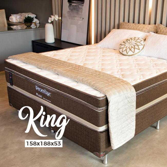 Conjunto Box Prorelax Rubi King