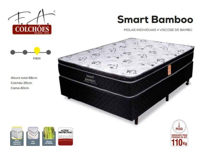 Conjunto Box Smart Bamboo Queen