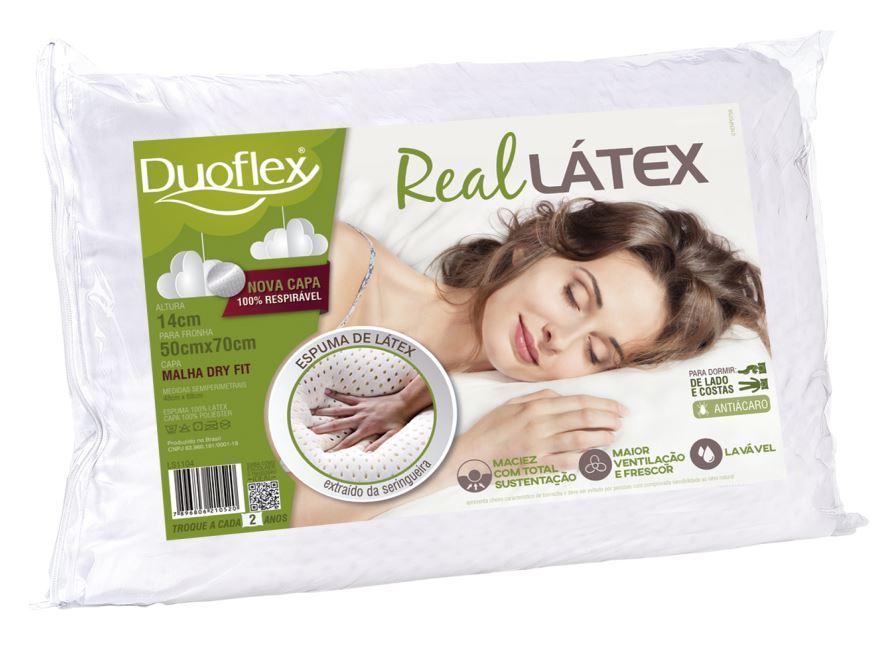 Travesseiro DuoFlex Real Látex