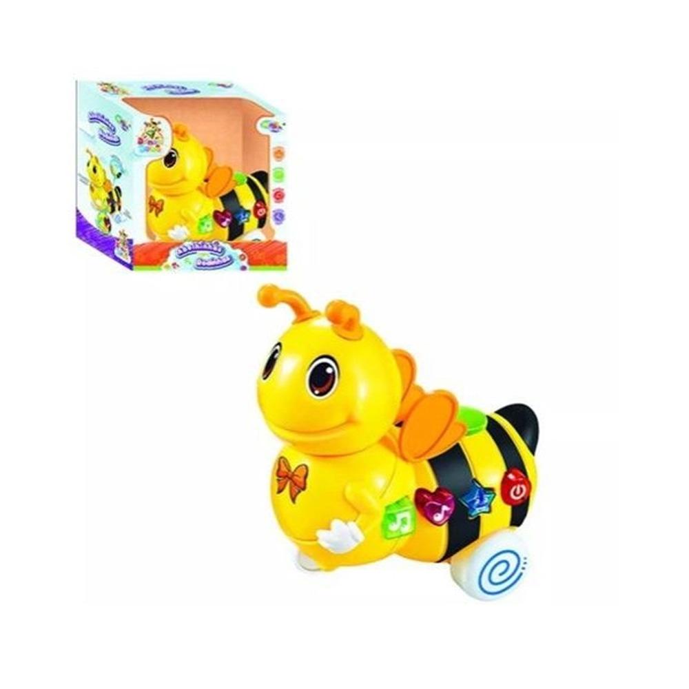 Brinquedo Abelhinha Com Rodinhas Som E Luz Wellmix