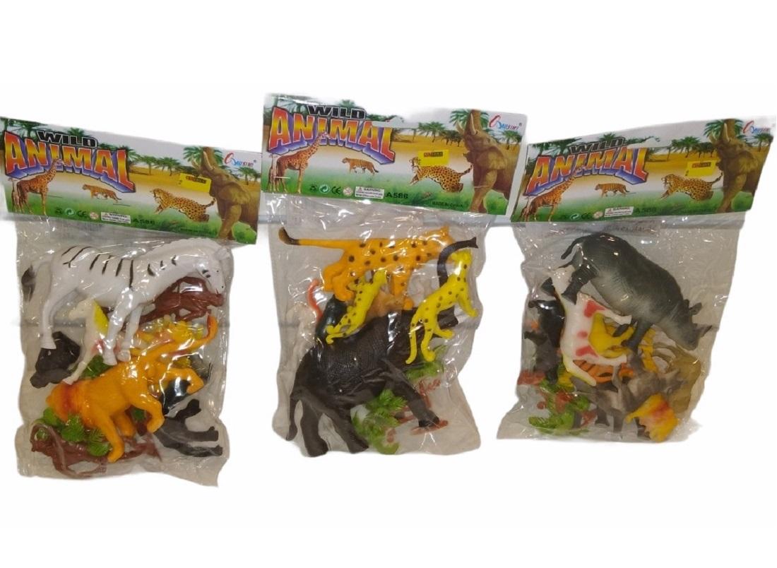 Animais Da Selva Kit Com 12 Unidades - Ausini