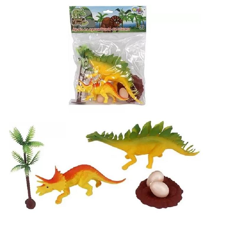 Animais Incríveis Kit Com 2 Dinos - Well Kids