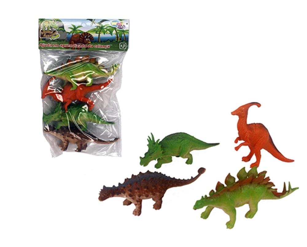 Animais Incríveis Kit Com 4 Dinos- Well Kids