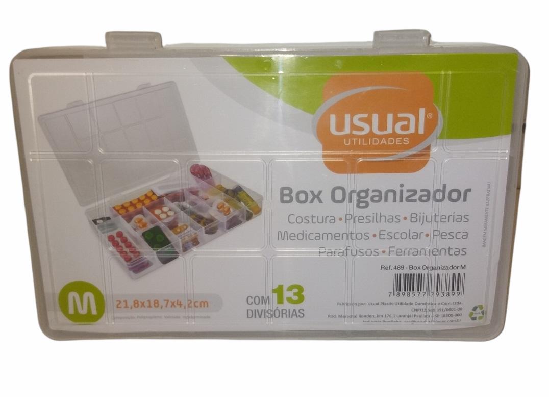 BOX ORGANIZADOR M COM 13 DIVISÓRIAS - USUAL