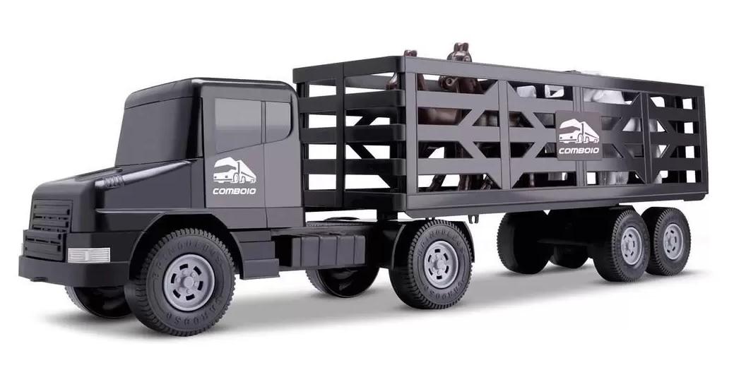 Caminhão De Brinquedo Boiadeiro Comboio Rodeio 5 Peças - Cardoso Toys