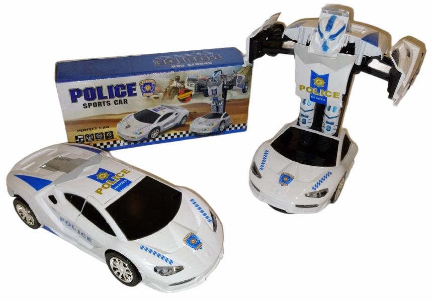 CARRINHO POLICE ELETRÔNICO ROBÔ  CUTE TOYS