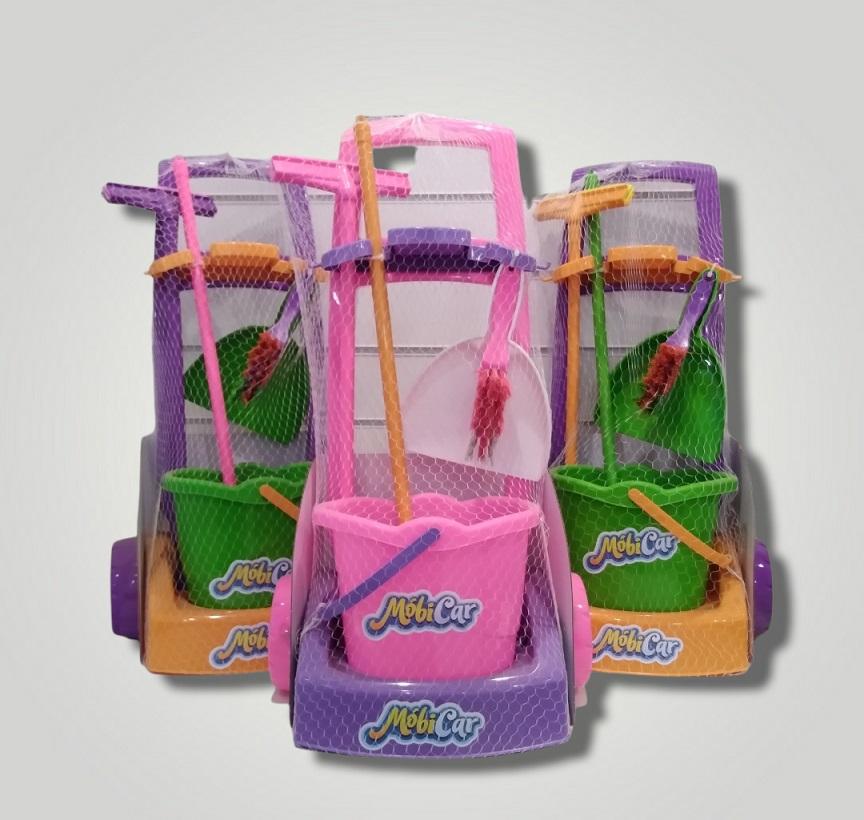 Kit De Limpeza Infantil Mobi Car - Usual Brinquedos