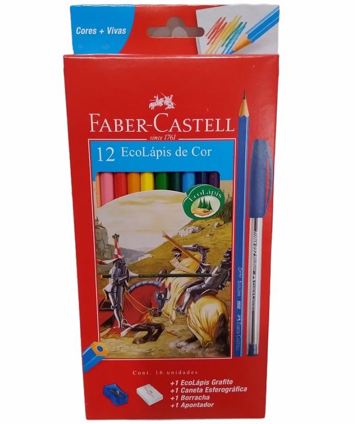 Kit Lápis De Cor 16 Unidades  Faber Castell