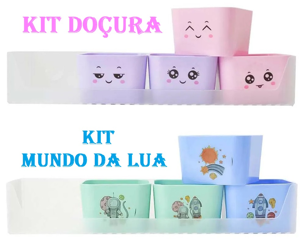 Kit Organizador Com 5 Porta Objetos Dello