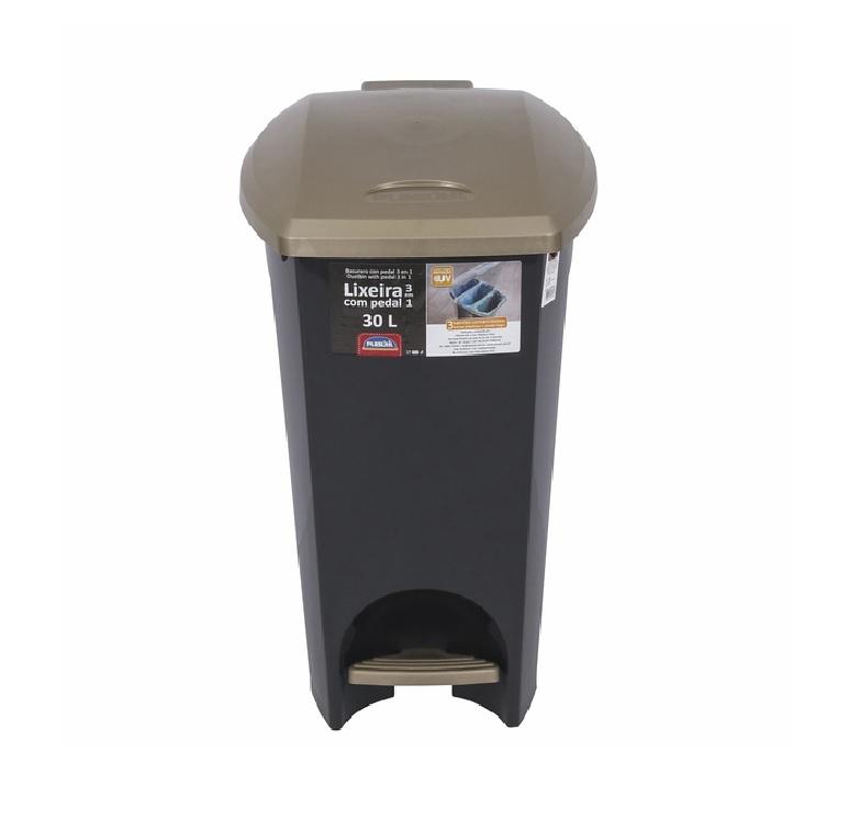 LIXEIRA 3 EM 1 COM PEDAL 30 litros  PLASÚTIL