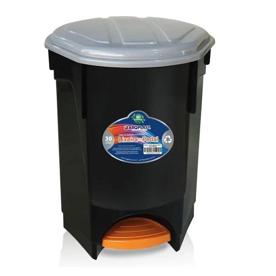LIXEIRA COM PEDAL 30 litros - ARQPLAST