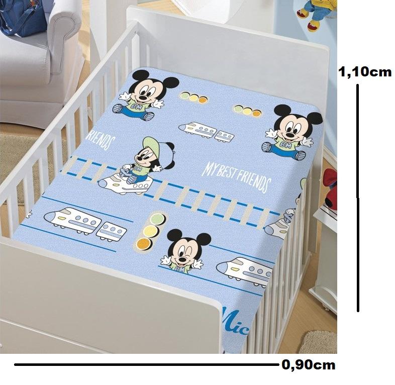 Manta de Microfibra Bebê Soft Disney Mickey Jolitex (AZUL CLARO)