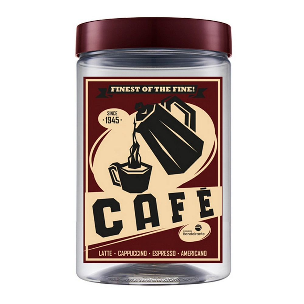 Pote Plástico Redondo  Litros Spresso Café 1,5