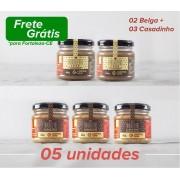 03 Brigadeiro Casadinho + 02 Brigadeiro Belga (Kit Promocional)