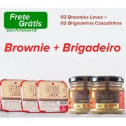 03 Brownies + 02 Brigadeiros Casadinhos (Kit Promocional)