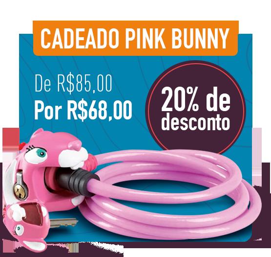 cadeado pink bunny