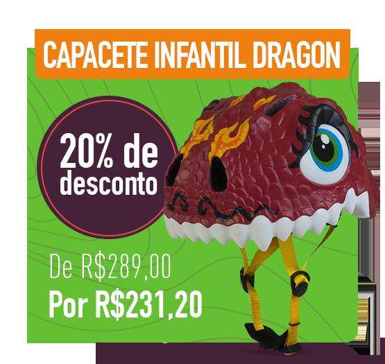 capacete infantil dragon