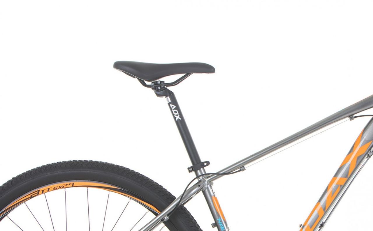 BICICLETA MTB AUDAX HAVOK SX TAM. 17 CINZA/LARANJA C/TRAVA (H3SX970)