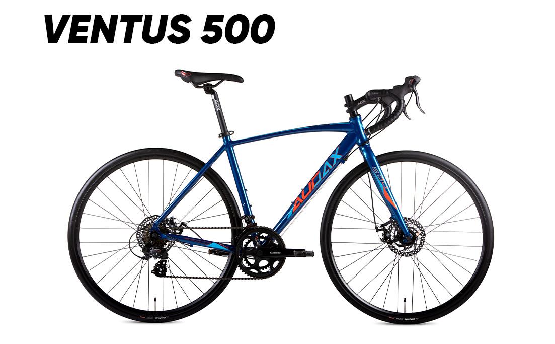 BICICLETA ROAD AUDAX VENTUS 1000 CLARIS ARO-700C TM 49 VER/AZ 2021 (VC10091)