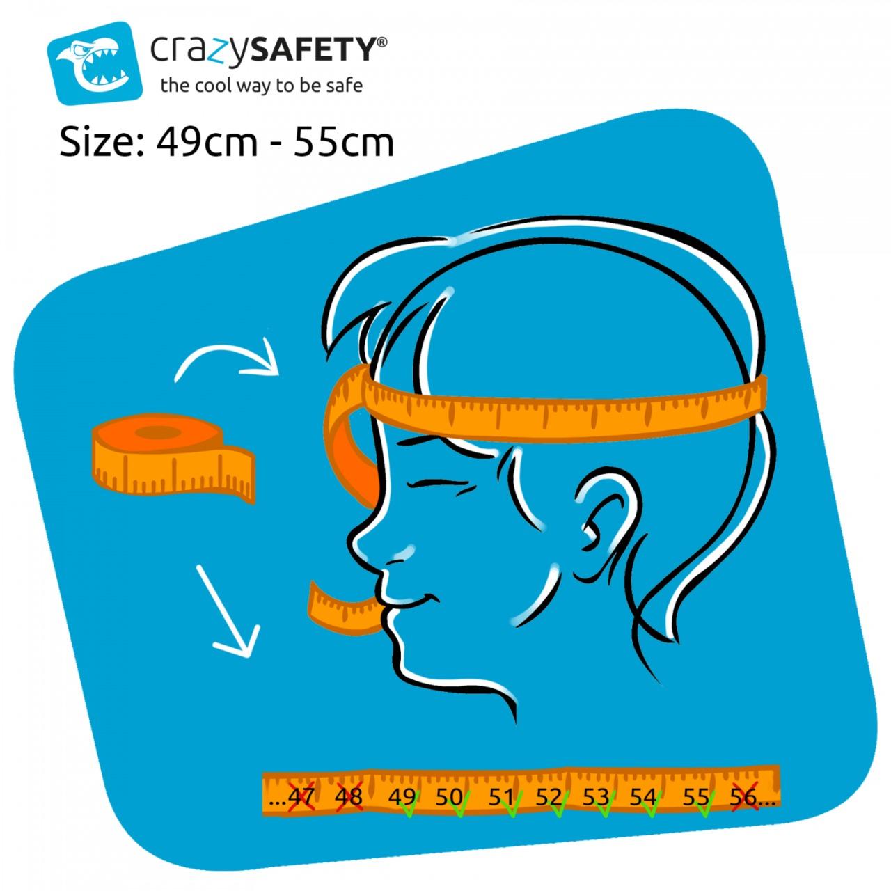 CAPACETE DE CICLISMO INFANTIL CRAZY SAFETY SHARK