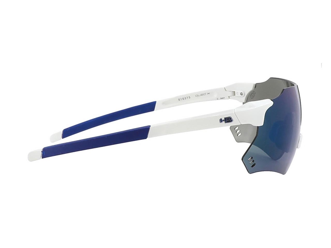 OCULOS HB QUAD X PEARLED WHITE BLUE CHROME (10103750407024)