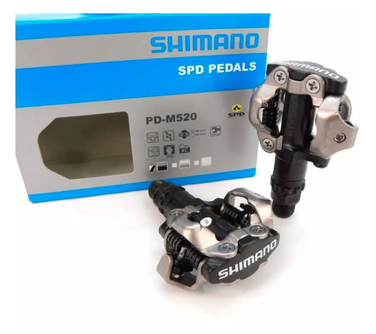 PEDAL MTB SHIMANO PD-M520 PTO (1190010)