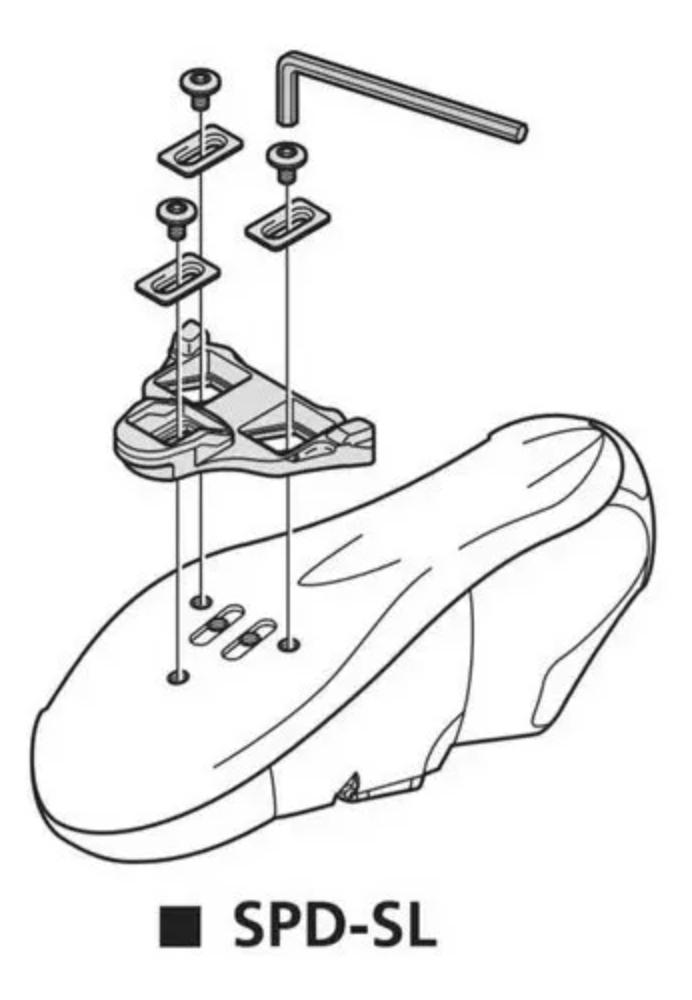 TAQUINHO SHIMANO PARA PEDAL SPEED FIXO SM-SH10 VMO (1260254)