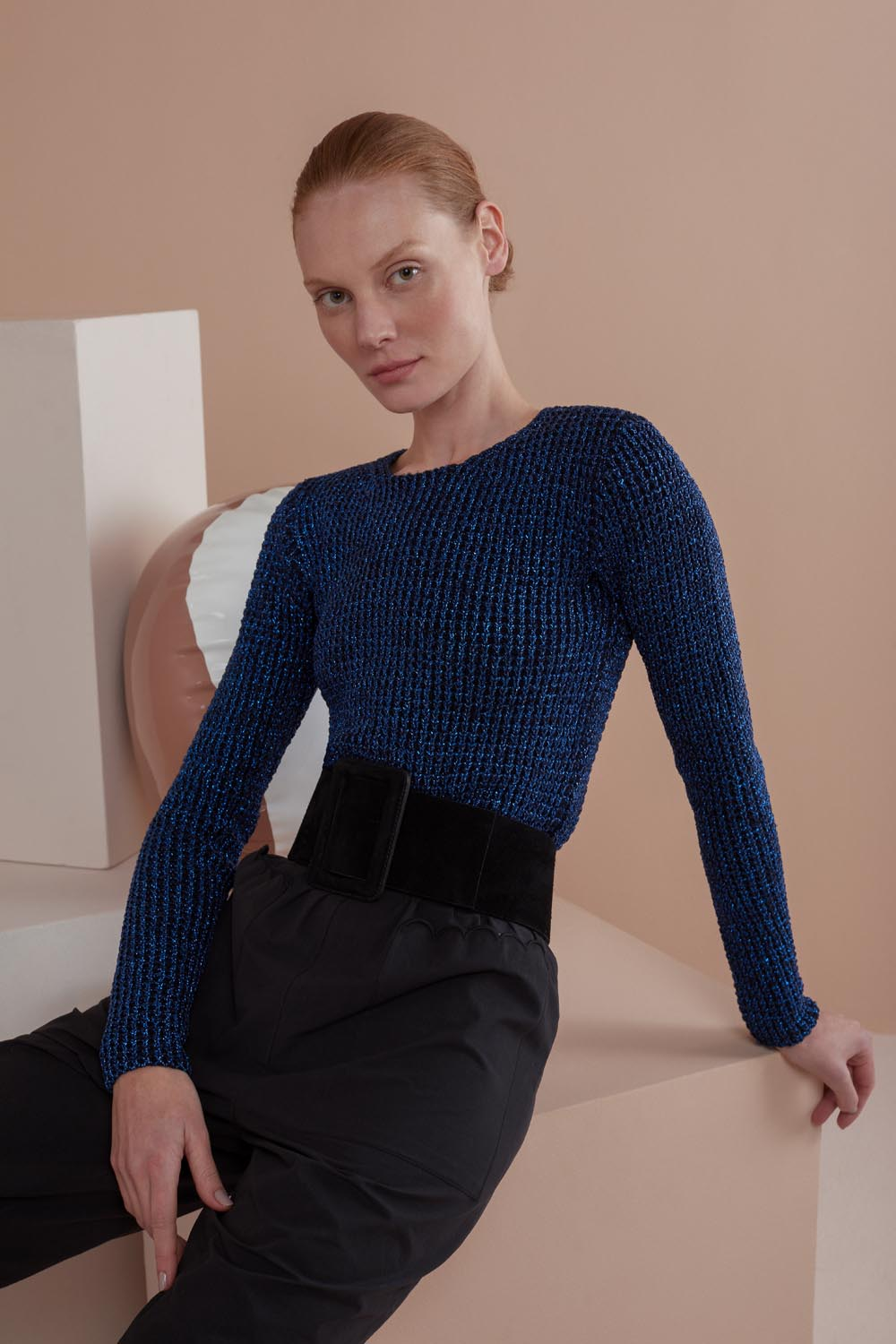 TRICOT CROPPED LUREX