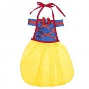 Fantasia de Princesa Valery avental infantil