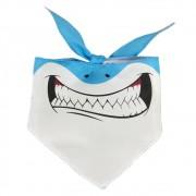 Bandana do Tubarão Azul para cachorros e gatos, Tam P ao G