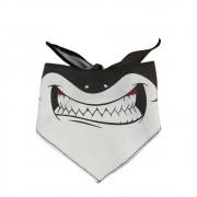 Bandana do Tubarão Black para cachorros e gatos, Tam P ao G