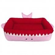 Cama para cachorros e gatos de Tubarão na cor Rosa, Tam P, M e G