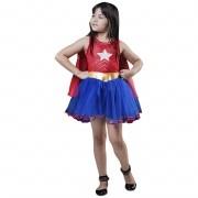 Fantasia da Super Star com capa para meninas