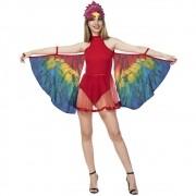 Fantasia de arara com asas para adultos