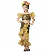 Fantasia de Lady Gold com tiara de frutas