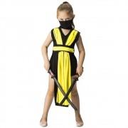 Fantasia de Ninja Girl com bandana