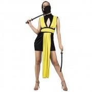 Fantasia de Ninja Girl com bandana para adultos